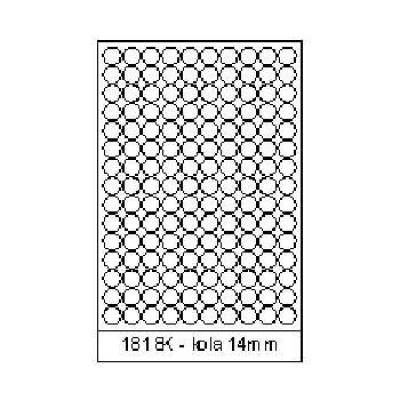 Samolepicí etikety 18 x 18 mm, 150 etiket, A4, 100 listů