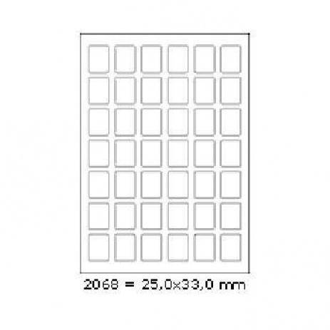Etichete autoadezive 25 x 33 mm, 42 de etichete, A4, 100 coli