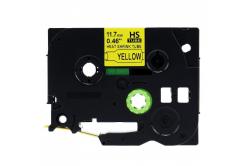 Kompatibilní páska s Brother HSe-631 11,7mm x 1,5m, černý tisk / žlutý podklad