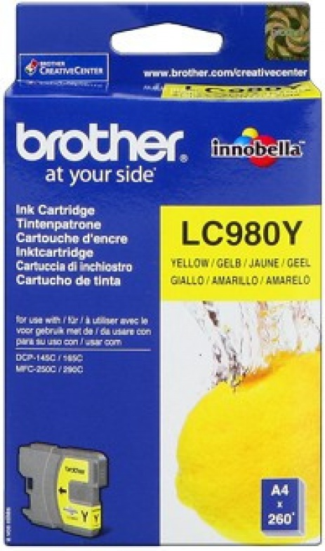 Brother LC-980Y sárga (yellow) eredeti tintapatron