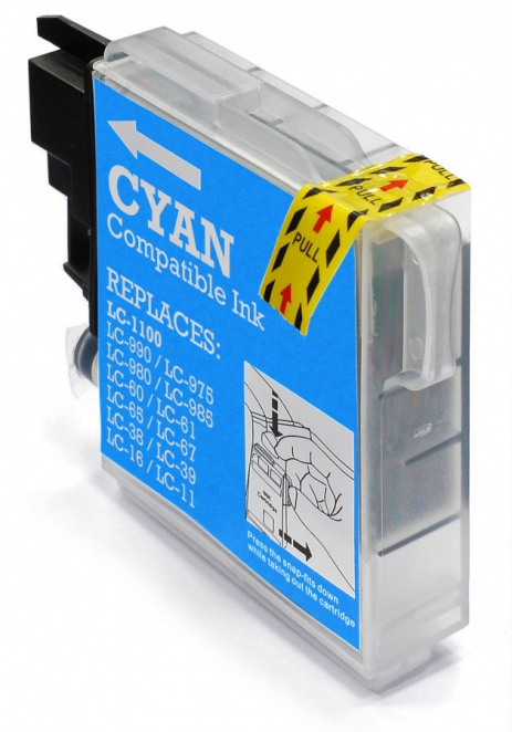 Brother LC-980/LC-1100 cyan compatible cartridge