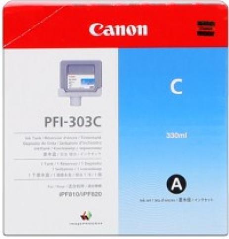Canon PFI-303C azuriu (cyan) cartus original