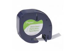 Kompatibilní páska s Dymo 59421, S0721500 / 91220, S0721520, 12mm x 4m, černý tisk/bílý podk