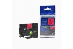 Kompatibilní páska s Brother TZ-421 / TZe-421, 9mm x 8m, černý tisk / červený podklad