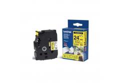 Brother TZ-FX651 / TZe-FX651, 24mm x 8m, černý tisk/žlutý podklad, originální páska