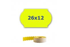 Cenové etikety do kleští, 26mm x 12mm, 900ks, signální žluté