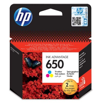 HP 650 CZ102AE barevná originální cartridge