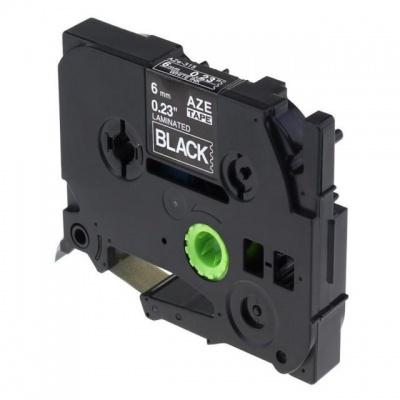Kompatibilní páska s Brother TZ-315 / TZe-315, 6mm x 8m, bílý tisk / černý podklad