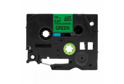 Kompatibilní páska s Brother TZ-S731/TZe-S731,12mm x8m extr.adh. černý tisk/zelený podklad