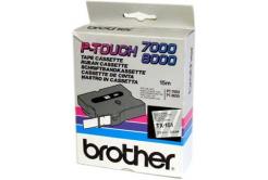 Brother TX-151, 24mm x 15m, czarny druk / przezroczysty podkład