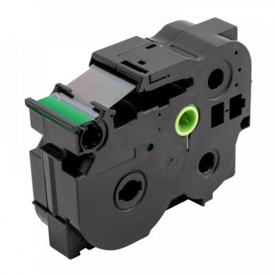 Kompatibilní páska s Brother TZ-S751 / TZe-S751, 24mm x 8m, extr.adh. černý tisk / zelený