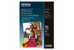 Epson C13S400035 Value Glossy Photo Paper, bílý lesklý foto papír, A4, 200 g/m2, 20 ks, C13S400035