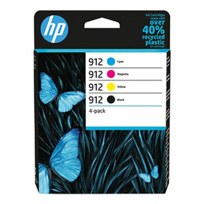 HP originální ink 6ZC74AE, HP 912, CMYK, 4*315str., multipack, HP Officejet 8012, 8013, 8014, 8015 Officejet Pro 802