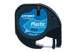 Dymo LetraTag 59426,S0721600 / S0721650 12mm x 4m černý tisk/modrý podklad originální páska