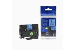 Kompatibilná páska s Brother TZ-521 / TZe-521, 9mm x 8m, čierna tlač / modrý podklad