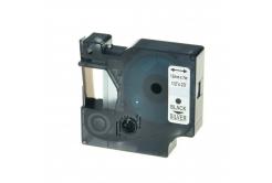 Kompatibilní páska s Dymo 45022, S0720620, 12mm x 7m černý tisk / stříbrný podklad