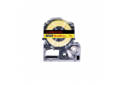 Epson LK-SC12YR, 12mm x 9m, červený tisk / žlutý podklad, kompatibilní páska