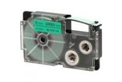 Casio XR-12GN1, 12mm x 8m, černý tisk/zelený podklad, originální páska