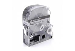Epson LC-SM6X, 6mm x 8m, černý tisk / matný stříbrný podklad, kompatibilní páska