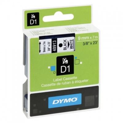 Dymo D1 40913, S0720680 / 41913, 9 mm x 7 m, černý tisk/bílý podklad, originální páska