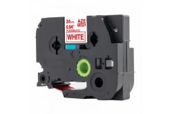 Kompatibilní páska s Brother TZ-FX252 /TZe-FX252, 24mm x 8m, flexi, červený tisk / bílý po