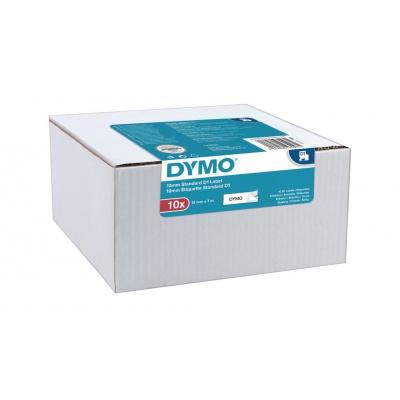 Dymo D1 45013, 2093097, 12mm x 7m, černý tisk/bílý podklad, originální pásky, 10ks