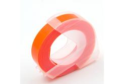 Dymo Omega, 9mm x 3m, bílý tisk / fluorescenční oranžový podklad, kompatibilní páska