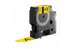 Kompatibilní páska s Dymo 18433, 19mm x 5, 5m černý tisk / žlutý podklad, vinyl