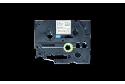 Brother TZ-R234 / TZE-R234, 12mm x 4m, zlatý tisk / bílý podklad, originální páska
