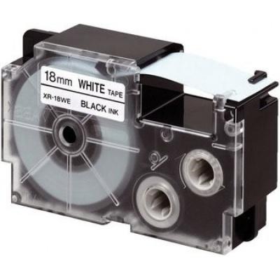 Casio XR-18X1, 18mm x 8m, černý tisk/průhledný podklad, originální páska