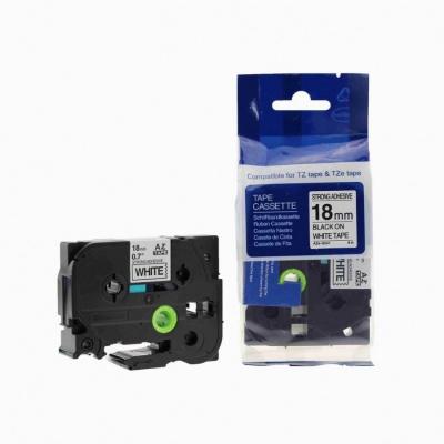 Kompatibilní páska s Brother TZ-S241/TZe-S241 18mm x 8m extr.adh. černý tisk/bílý podklad