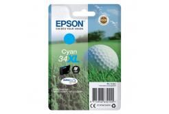 Epson originální ink C13T34724010, T347240, cyan, 10.8ml, Epson WF-3720DWF, 3725DWF