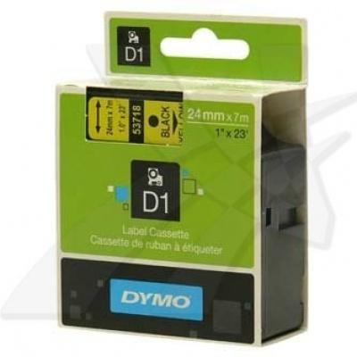 Dymo D1 53718, S0720980, 24 mm x 7 m, černý tisk/žlutý podklad, originální páska