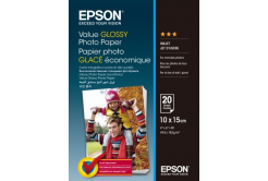 Epson Value Glossy Photo Paper, bílý lesklý foto papír 10x15cm, 183 g/m2, 20 ks, C13S400037