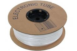 Popisovací PVC bužírka kruhová R25, 2,5mm, 100m, bílá