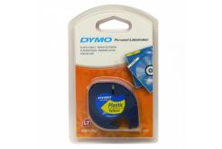 Dymo LetraTag 59423, S0721570, 12mm x 4m, černý tisk/žlutý podklad, originální páska