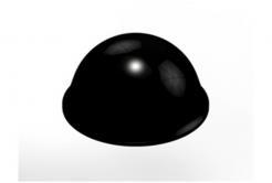 3M Bumpon SJ5017 černý, plato = 40 ks