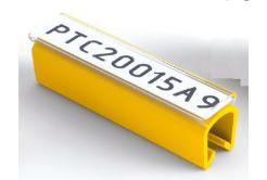 Partex PTC40015A4, žlutý, 100ks, (5-6,2mm), PTC nacvakávací pouzdro na štítky