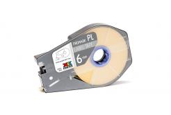 Partex PROMARK-PL060CN4, galben banda adeziva, 6mm, 30m
