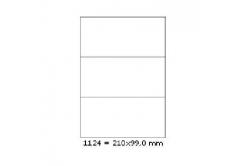 Samoprzylepne etykiety 210 x 99 mm, 3 etykiety, A4, 100 arkuszy