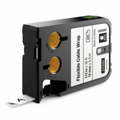 Dymo XTL 1868806, 12mm x 5,5m, černý tisk/bílý podklad, originální páska