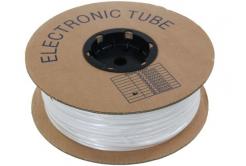 Popisovací PVC bužírka kruhová 3,2mm, UL, bílá, 100m