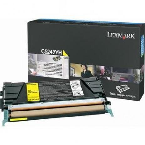 Lexmark C5242YH sárga (yellow) eredeti toner