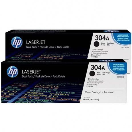 HP 304A CC530AD dualpack fekete (black) eredeti toner