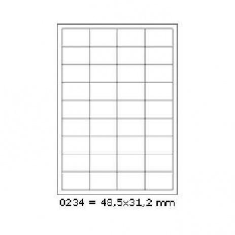 Öntapadós címkék 48,5 x 31,2 mm, 36 db / A4, 100 lap