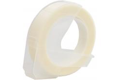 Dymo Omega, 9mm x 3m, bílý tisk / průhledný podklad, kompatibilní páska