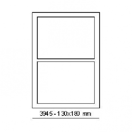 Selfadhesive labels 180 x 130 mm, 2 labels, A4, 100 sheets