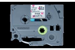 Brother TZ-MPPH31 / TZe-MPPH31, 12mm x 4m, černý tisk / bílý-růžový podklad, originální páska