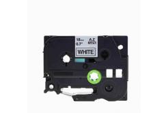 Brother TZe-V241, 18mm x 5,5m, černý tisk / bílý podklad, vinyl, kompatibilní páska