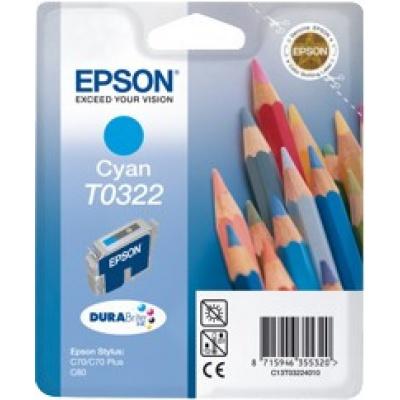 Epson T032240 azurová (cyan) originální cartridge